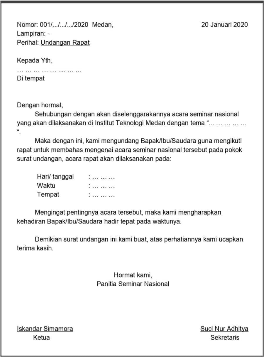 Contoh Surat Resmi File Doc