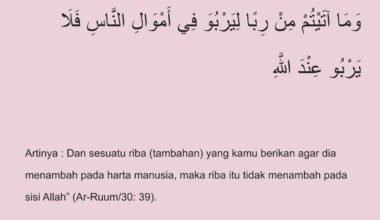 Pengertian Riba Dalam Islam